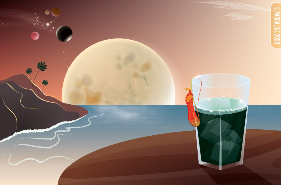 A planet with a nice drink